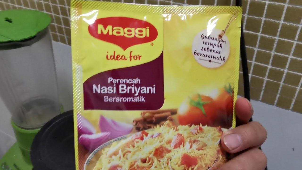 Nasi Briyani Maggi Youtube