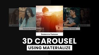 3D Carousel Using Materialize | Html CSS & jQuery
