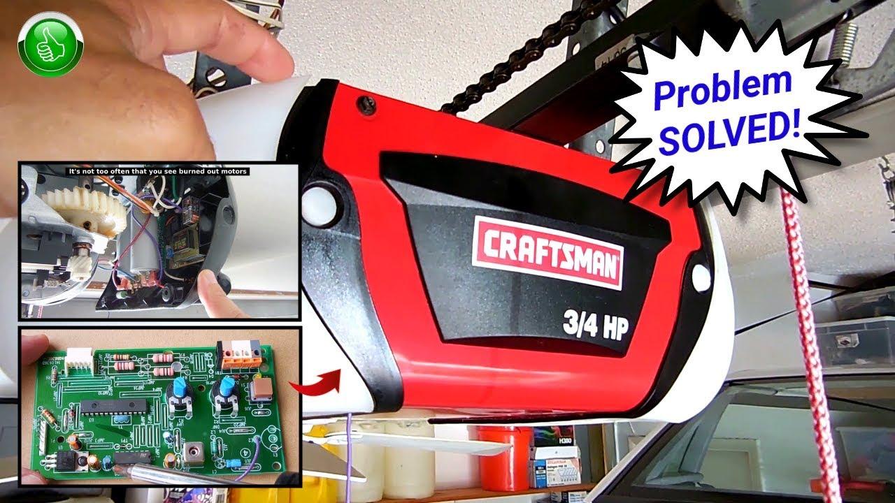 Craftsman Garage Door Opener Repair Youtube