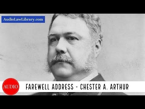 Chester A. Arthur's Farewell Address (Full Audiobook)