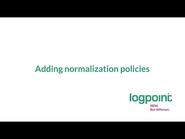 How To: Add Normalization policies [step 7]