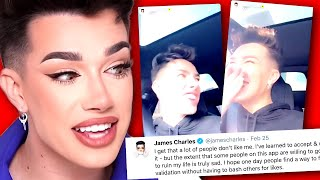 Oof James Charles can't stay away from the drama...even on Tik Tok