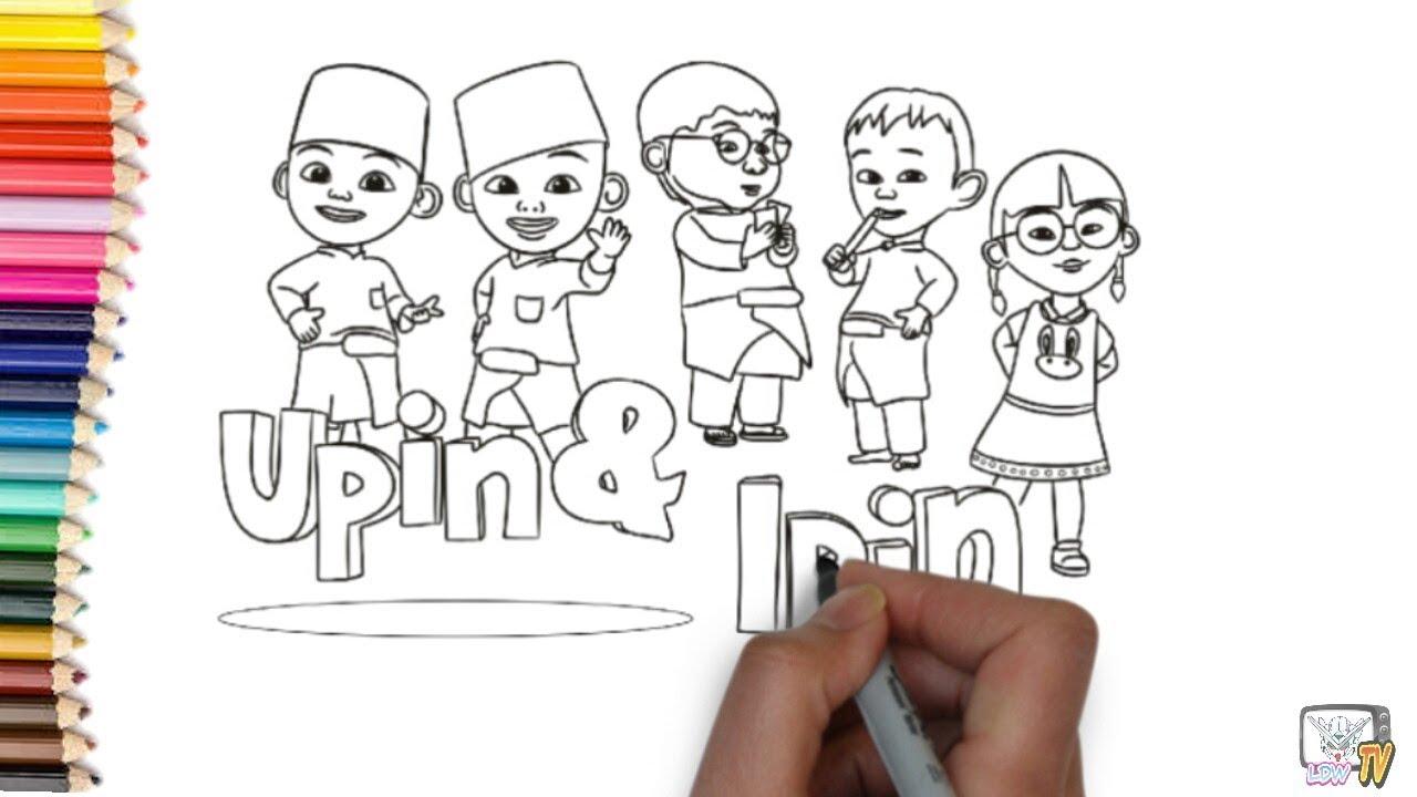 Belajar Menggambar Kartun Upin & Ipin