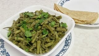 Guvar Nu Shaak Video Recipe - Cluster Beans Recipe - Indian Recipes By Bhavna