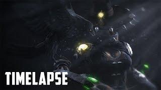 Paladins| Cassie (Night Bane) Poster Timelapse