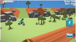 Blockytrials Motor Racer / Motorbike Games / For Children / Flash Online Gameplay Video