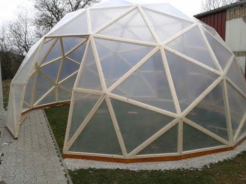 Dome Gewächshaus Geodätische Kuppel Buckminster Fuller  Dome