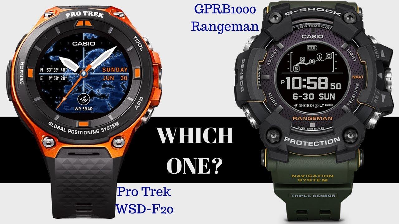 Which One Is Better Protrek Wsd F20 Vs G Shock Rangeman Comparison Jam Tangan Pria 333mlbldg1
