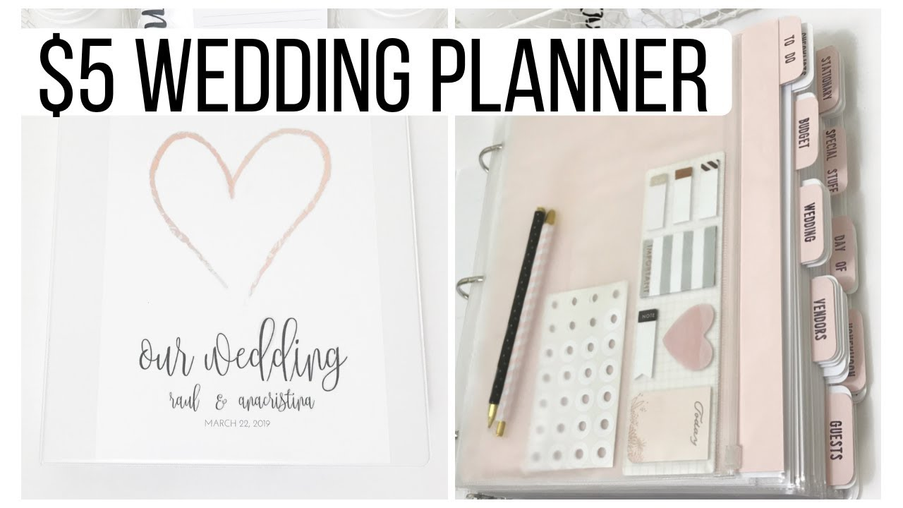 5 Diy Wedding Planner Binder Free Planning Printables 100 Pages