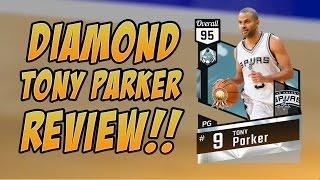 NBA 2K17 DIAMOND TONY PARKER MYTEAM PLAYER REVIEW!!