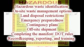 Hazardous Waste (RCRA) Awareness Course