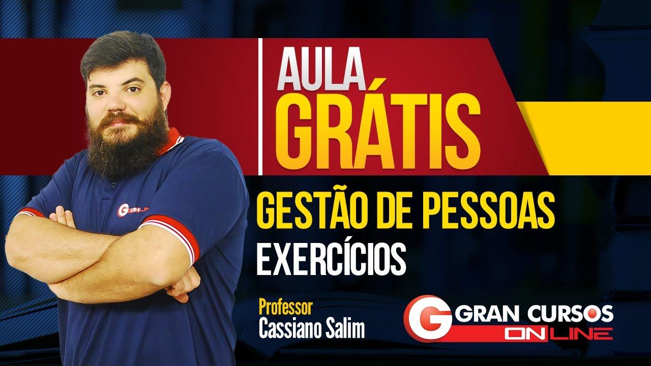 ad38552a98a2ad Aula Grátis | Gestão de Pessoas - Exercícios | Prof. Cassiano Salin
