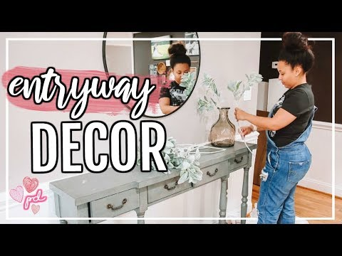 HOW TO DECORATE AN ENTRYWAY ON A BUDGET! | DECORATE WITH ME 2019 | Page Danielle
