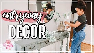 How To Decorate An Entryway On A Budget!   Decorate With Me 2019   Page Danielle