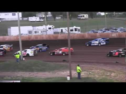 USMTS @ Rice Lake Speedway Hunt Race #6 Heat#4     8 16 2012