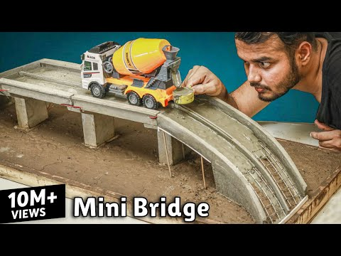 Concrete Bridge Model Full | Miniature Construction | Creative Channel
