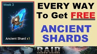 ~EVERY WAY~ to get *FREE* Ancient Shards! (RAID: Shadow Legends)