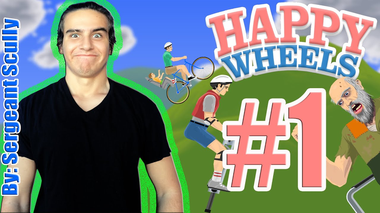 Happy Wheels Game Play 1 Mission Impossible Youtube