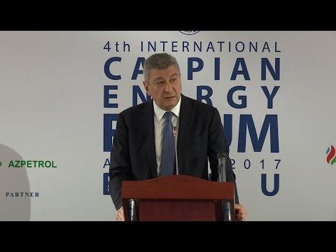 Ramiz Hasanov - 4-th Caspian Energy Forum - Baku 2017