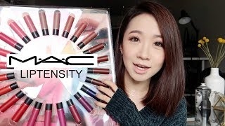 M.A.C LIPTENSITY SWATCHES   魅可立体凝彩唇膏试色
