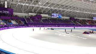 現地映像☆スピードスケートチームパシュート女子決勝平昌オリンピック2018年2月21日