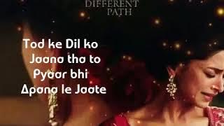Tod Ke Dil Ko Jana Tha To Pyar Bhi apni Le Jate WhatsApp status