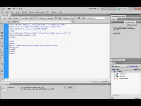 Music player tutorial html