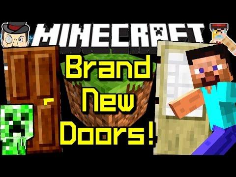 Minecraft Brand New Doors In Latest Snapshot 14w32d!  Youtube