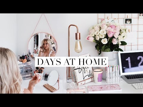 WORKING FROM HOME & REORGANZING MY ROOM | DC Diaries #28
