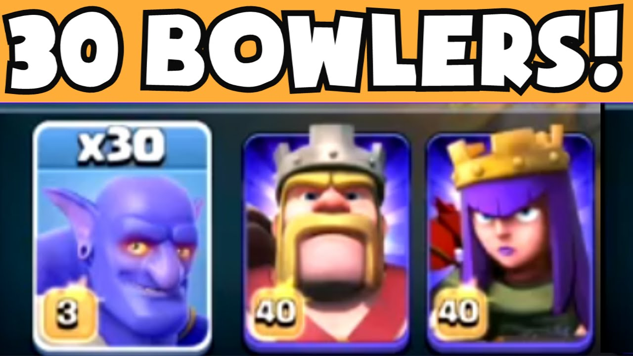 Clash Of Clans  Maxed Level Bowlers New Dark Troop Gameplay Coc  Update Review Youtube