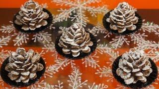 Новогодние рецепты - пирожное Шишка. Весёлый Поварёнок №7
