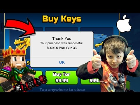 Kid Spends $1000 In Pixel Gun 3D In-App Purchases!!! (All Pets & Guns In PG3D)