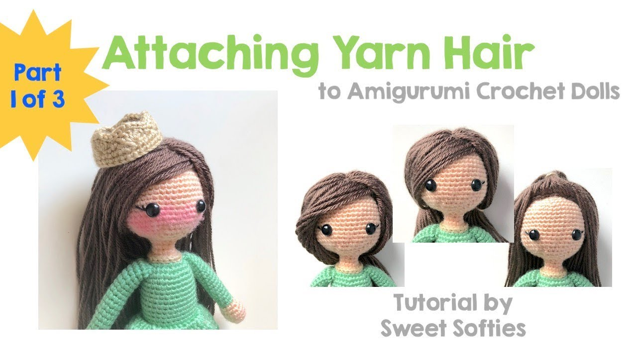 Yarn doll hair tutorial | plushie patterns.