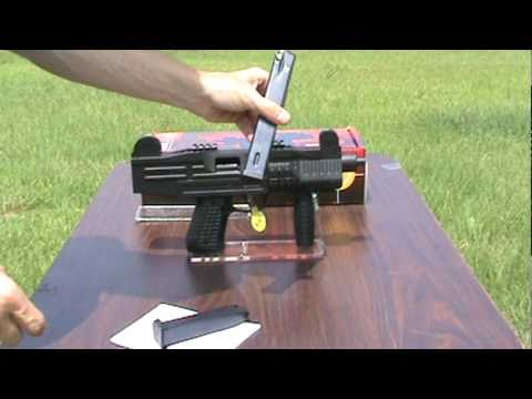 Uzi Replica Full Auto Blank Firing Machine Gun.mpg - YouTube