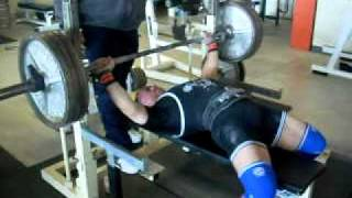 "Mike ""Cags"" Cagliola - 320 pound RAW Bench Press @ 165 bwt."