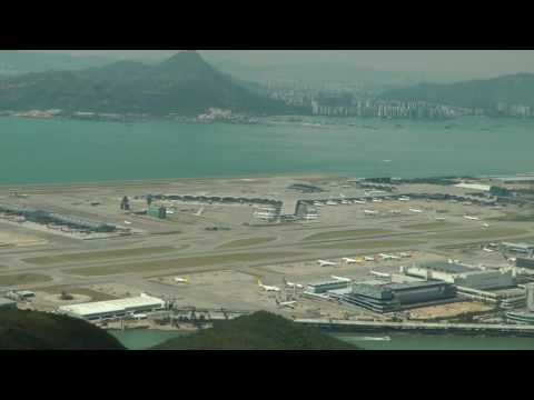 Awesome View point at Hong Kong Airport with air traffic control Part 1