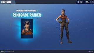 Buying the Renegade Raider & Raiders Revenge | Fortnite Season Shop 1