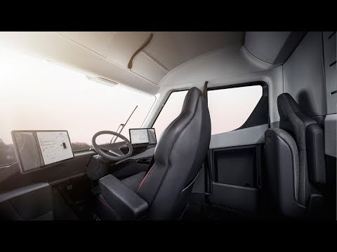 FIRST LOOK TESLA ELECTRIC semi truck - Eksterior and Interior