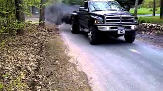 2001 24v dodge cummins dually blowing smoke