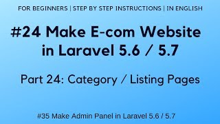 #24 Stellen E-commerce-website in Laravel 5.6 | #35 Admin-Panel | Kategorie / Listing Seiten