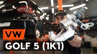 aizmugurē labais Bremžu suports uzstādīšana VW GOLF V (1K1): bezmaksas video