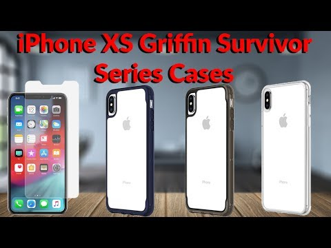 IPhone XS Max Griffin Survivor Series Cases & Screen Protector - YouTube Tech Guy