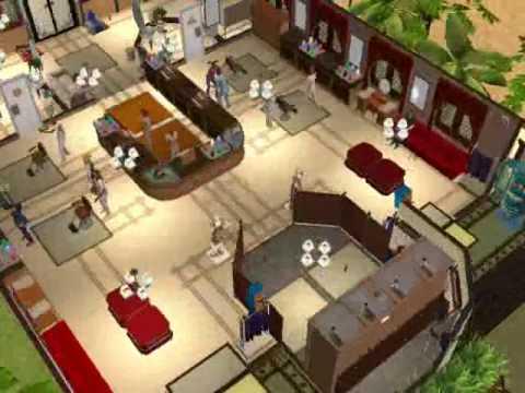 Sims 2 Dream Lot 'Curl Up and Dye Hair Salon'