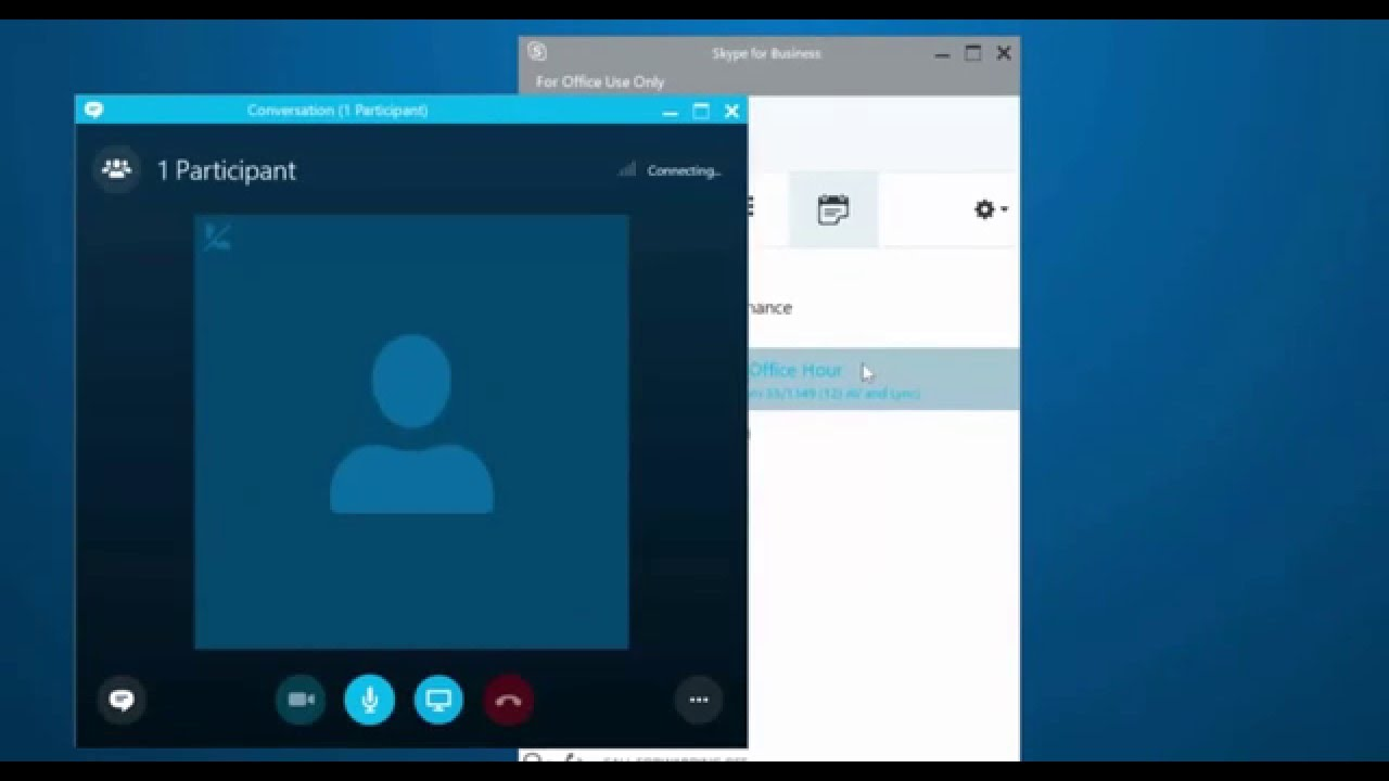 Joining a Skype (for Business) meeting + options