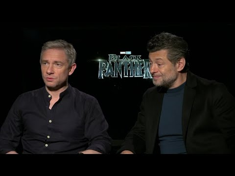 Andy Serkis and Martin Freeman discuss being the only white actors in the large main ensemble cast