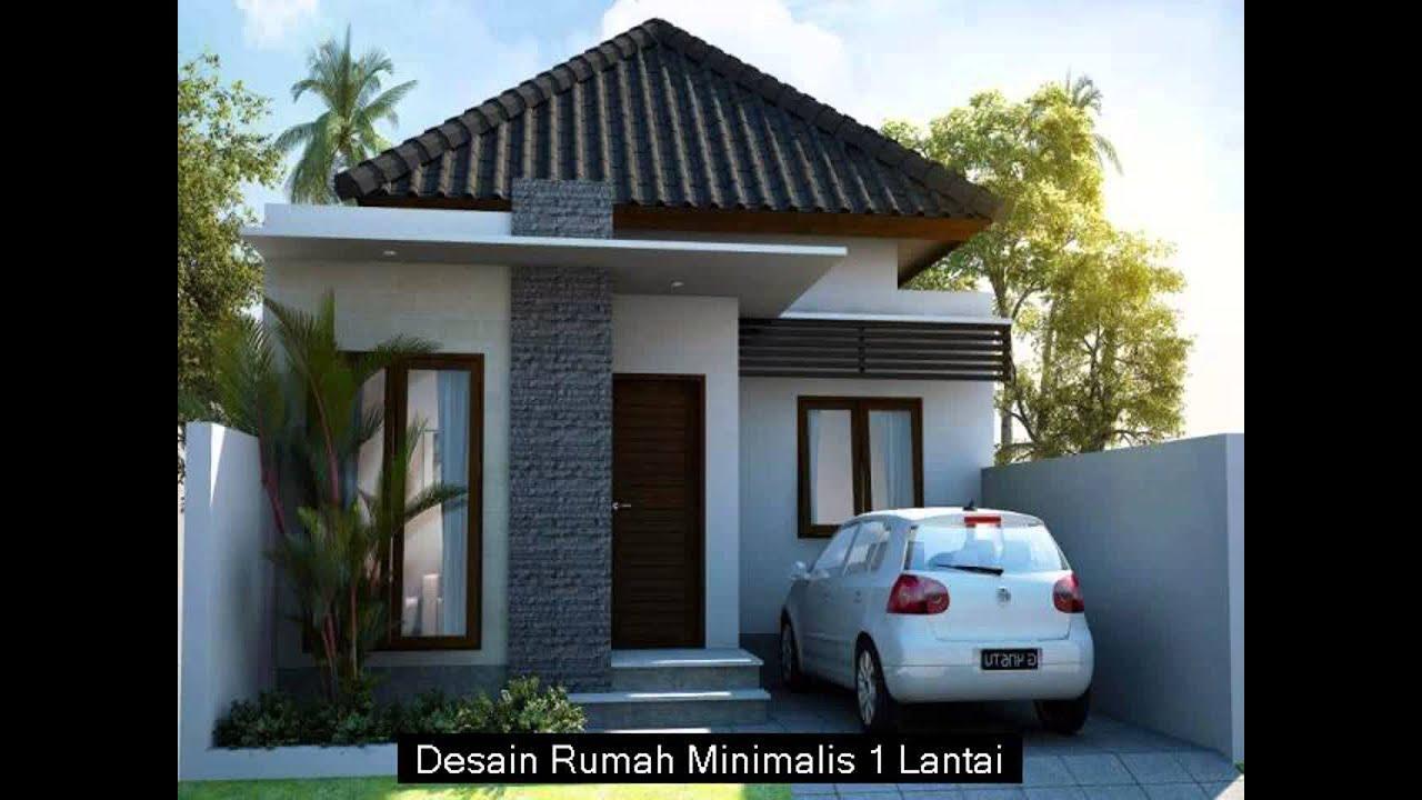 & Desain Rumah Minimalis 1 Lantai Terbaru - YouTube