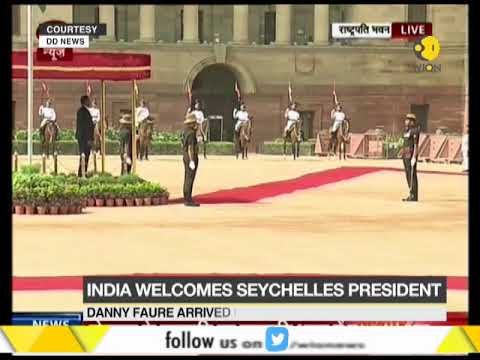 India welcomes Seychelles President; Danny Faure given ceremonial reception