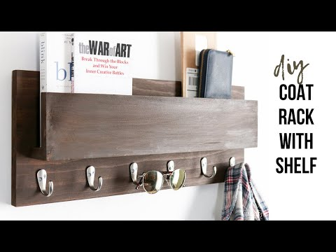 DIY Wood Coat Rack & Mail Holder | Scrap Wood Project