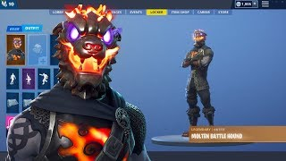 Fortnite: Molten Battle Hound Skin Showcase avec plus de 90 danses