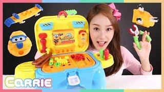 캐리의 출동! 슈퍼윙스 공구놀이 장난감 비행기 놀이 CarrieAndToys